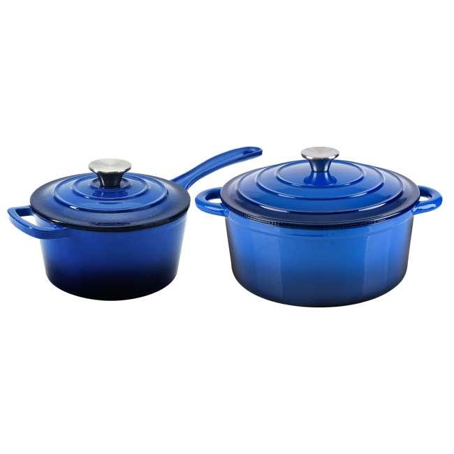 HAR101B + HAR113B Hamilton Beach Dutch Oven Pot & Sauce Pan, Blue