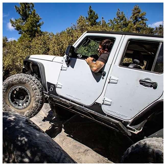 JPJKW2D-RHG Rhinohide Jeep Wrangler JK 2-Door Magnetic Body Armor Panels, Rhinohide Gray 6