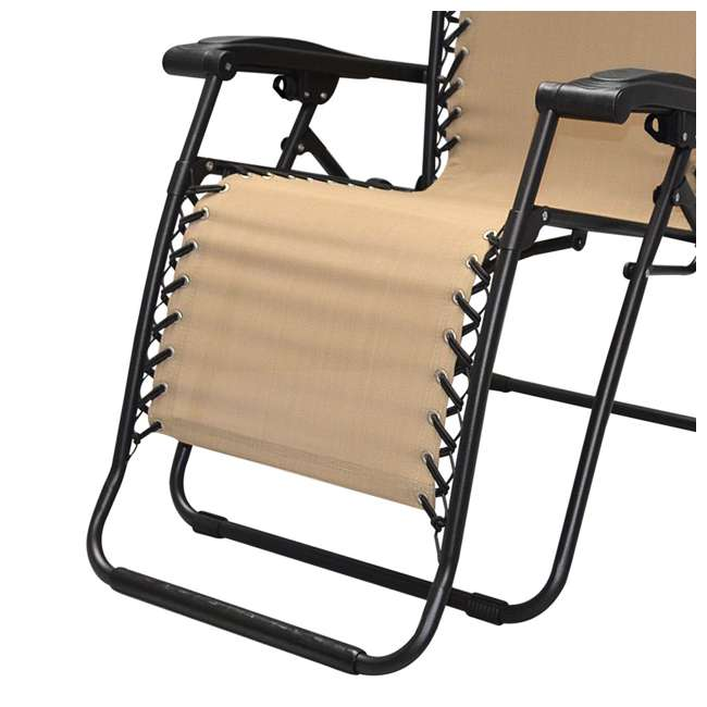 CVAN80009000152-2PK-U-B Caravan Canopy Infinity Zero Gravity Steel Frame Patio Deck Chair (Pair) (Used) 4