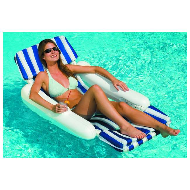 10010M-U-A Swimline 10010 SunChaser Swimming Pool Padded Chair Lounger (Open Box) (2 Pack)