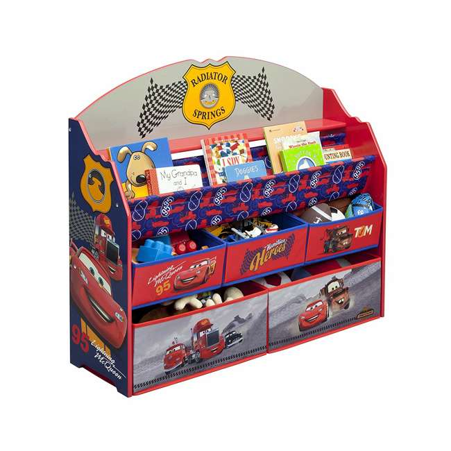 TB84993CR-1010 Delta Children Disney/Pixar Cars 3 Deluxe Book and Toy Organizer 1