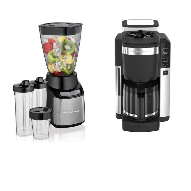 45400 + 52400 Hamilton Beach 12 Cup Coffee Maker w/ Smoothie Mixer