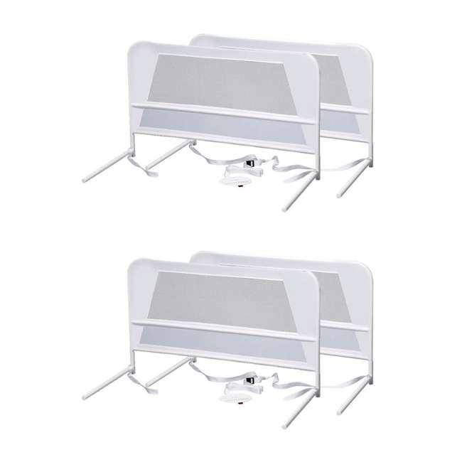 BR303 KidCo Telescopic 2-Pack Children's Bed Rail, White (2 Sets)