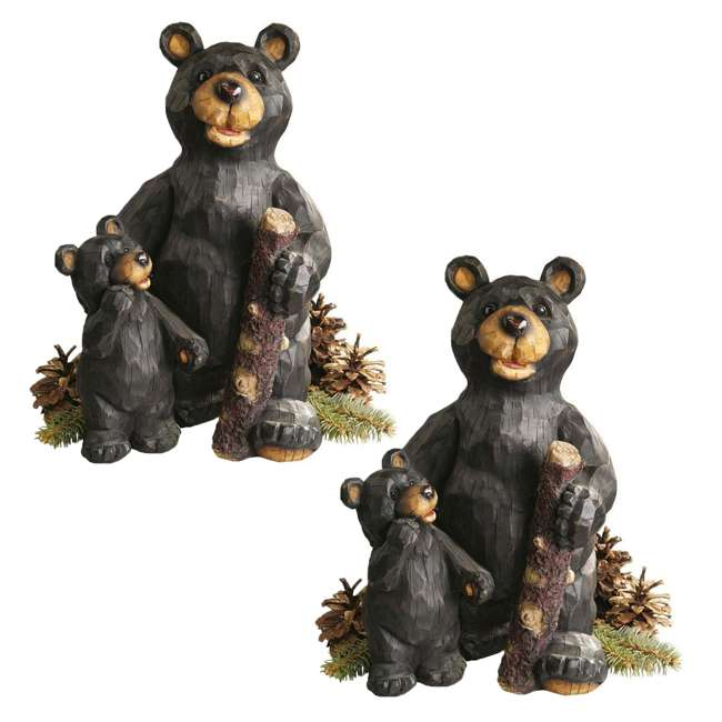 JE228500 Design Toscano Stone Black Forest Bear Pair Sculpture (2 Pack)