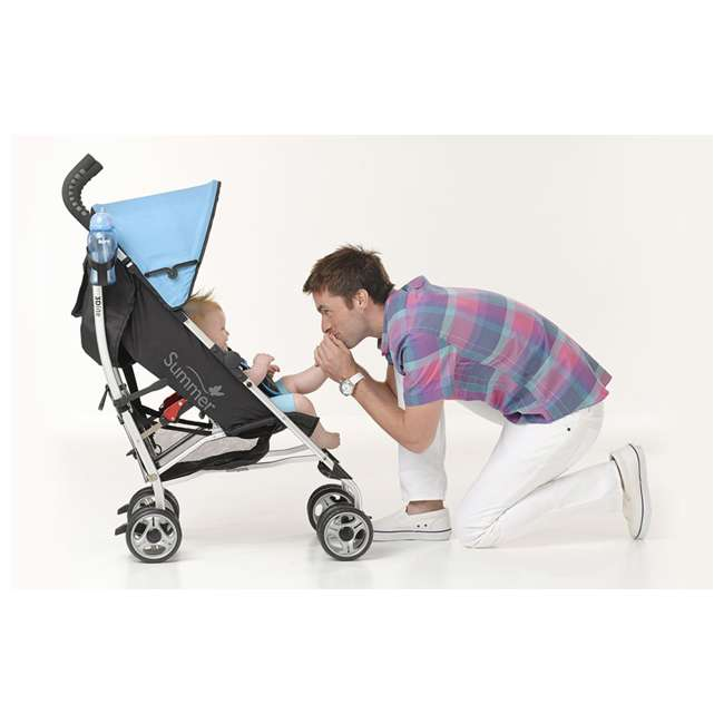 21840A Summer Infant 3Dlite 42 Inch Convenience Stroller, Caribbean Blue 5