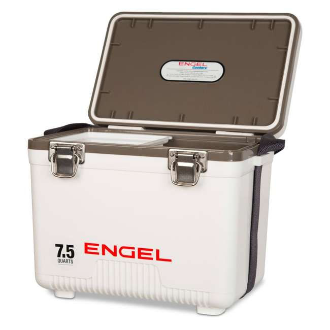 UC7 Engel 7.5-Quart EVA Gasket Seal Ice and DryBox Cooler with Carry Handles, White 1