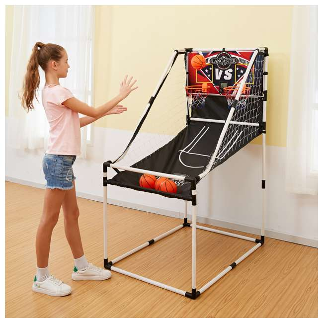 BBG025_017P-U-C Lancaster 2 Player Junior Arcade Basketball Dual Hoop Shooting Game (For Parts) 5