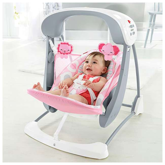 Fisher Price Deluxe Take Along Baby Swing U0026 Seat, Pink