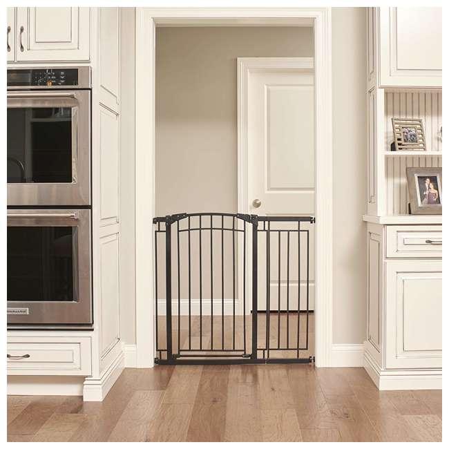 4471110 36-Inch Adjustable Baby & Pet Safety Gate, Black 3