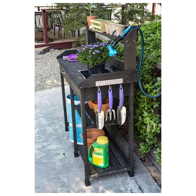 729BL Bloom Natural Fir Potting Indoor/ Outdoor Work Bench/ Station w/ Sink & Storage 3