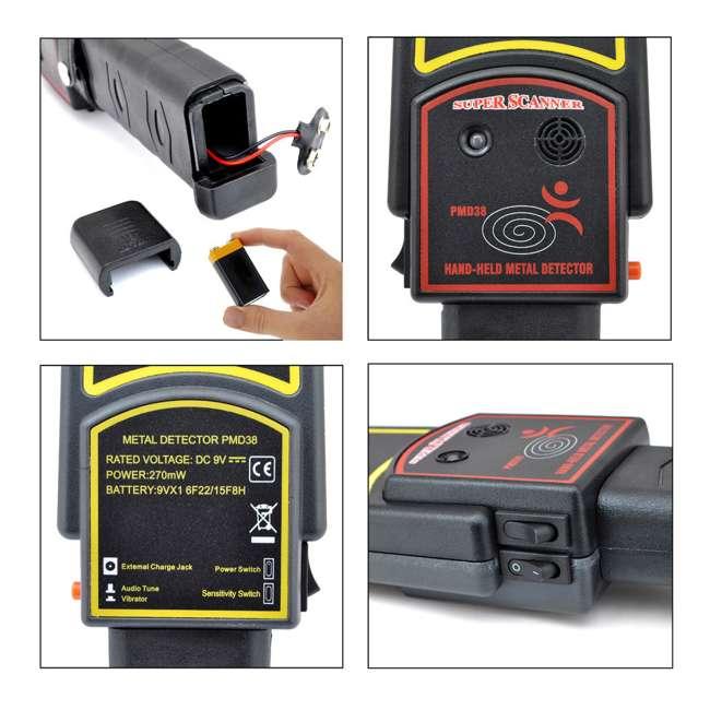 PMD38 Pyle Secure Scan Handheld Metal Detector Wand Scanner (2 Pack) 4