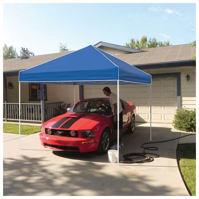 ZSB10EVRBL + ZSHDSK4 Z-Shade 10 x 10 Foot Everest Instant Canopy Shelter with Four Steel Stake Skit 3