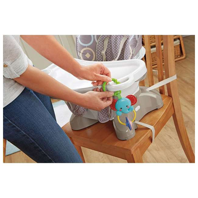 BMM98 Fisher Price SpaceSaver Portable Travel Baby Feeding High Chair Seat, Luminosity 5