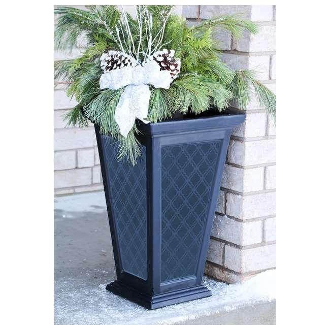 "MOD-CP3000-BLK-2-U-B FCMP Outdoor 24"" Casablanca Self Watering Freestanding Pedestal Planter (Used) 1"