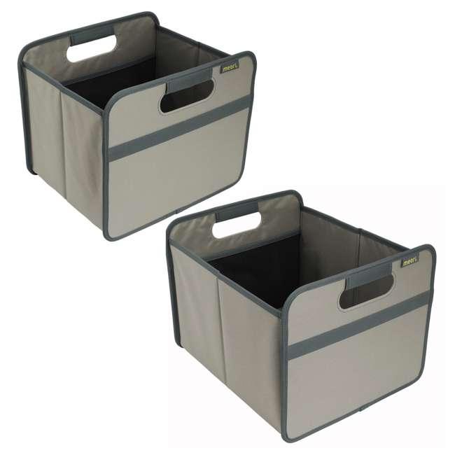 A100028 + A100198 Meori Classic Collection 4 & 6.5-Gallon Foldable Box, Stone Gray