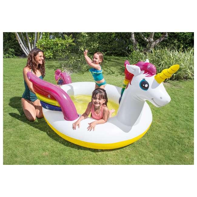"57441EP Intex 57441EP 107 x 76 x 41"" Inflatable Rainbow Mystic Unicorn Spray Kiddie Pool 1"