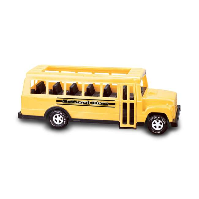 APT-83140 American Plastic Toys 83140 Toddlers Kids Large 18 Inch School Bus Car, Yellow