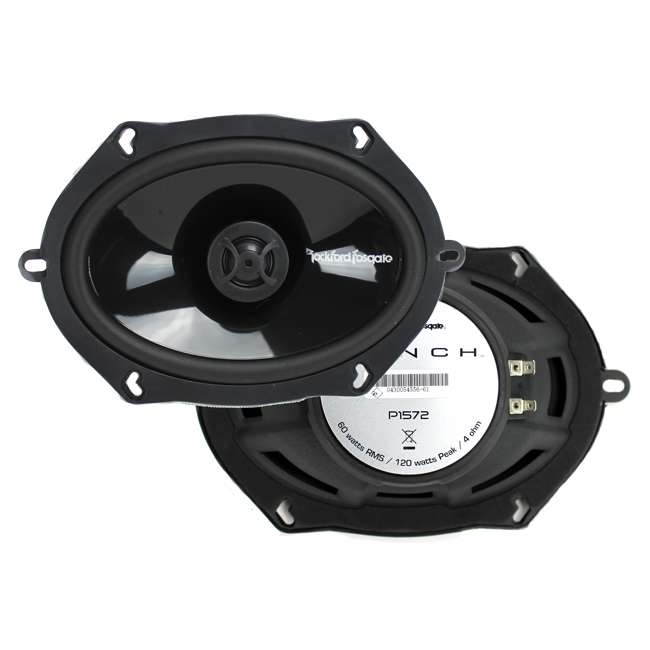 P1572 Rockford Fosgate P1572 5x7-Inch 120W 2 Way Coaxial Speakers (Pair)