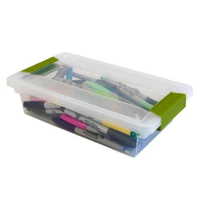 36 x 19618606-U-A Sterilite Small File Clip Box Clear Storage Tote Container (Open Box) (36 Pack) 5