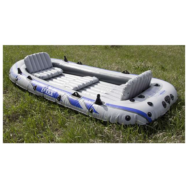 68325EP INTEX Excursion 5 Inflatable Rafting/Fishing Dinghy Boat Set (Used) (2 Pack) 3