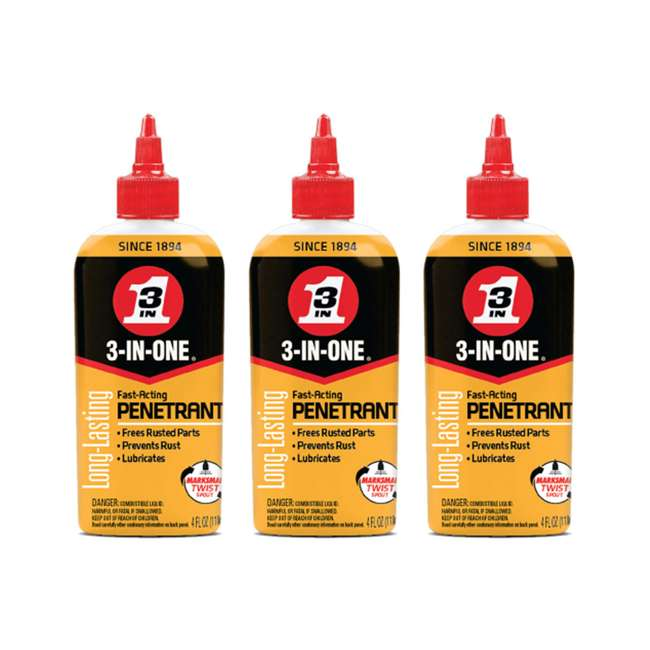3 x WD-120015 3-IN-ONE 120015 Penetrant to Loosen & Stop Rust (3 Pack)