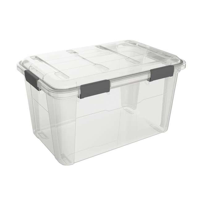 FBA32227 Ezy Storage Weather Proof IP65 50 Liter Plastic Storage Container Bin Box w/ Lid