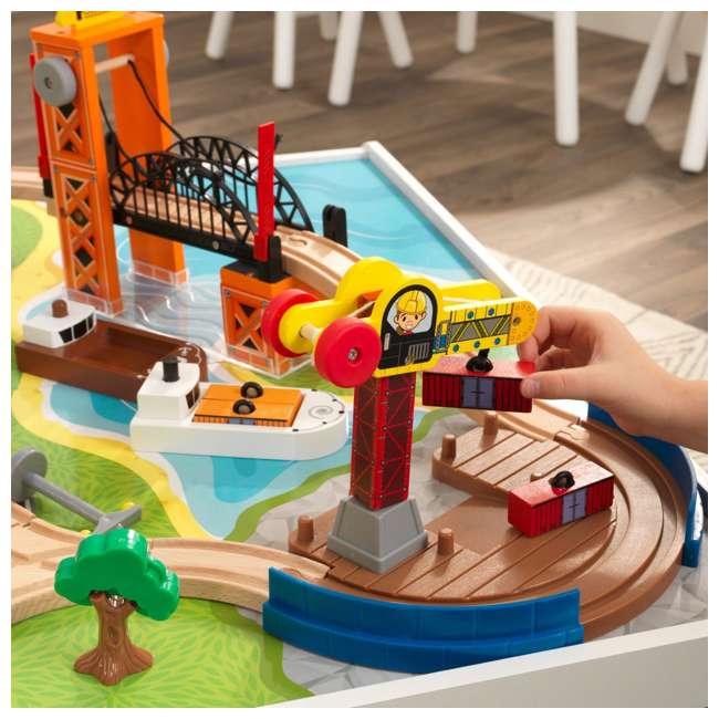 KDK-18012 KidKraft 18012 Railway Express Kid Toddler Wooden 79 Piece Toy Train Set & Table 5