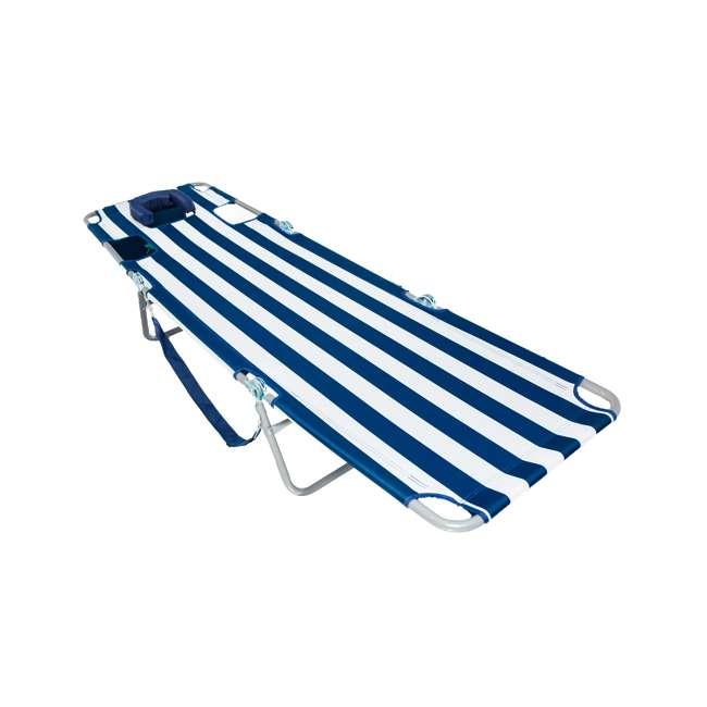 CHS-1002S Ostrich Chaise Lounge Folding Portable Sunbathing Beach Chair (2 Pack) 2