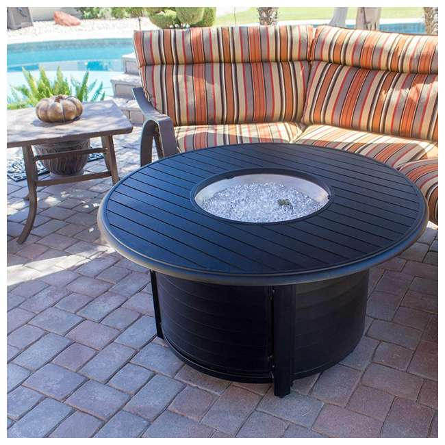 F-1350-FPT AZ Patio Heaters Round Aluminum Propane Fire Pit, Black 4