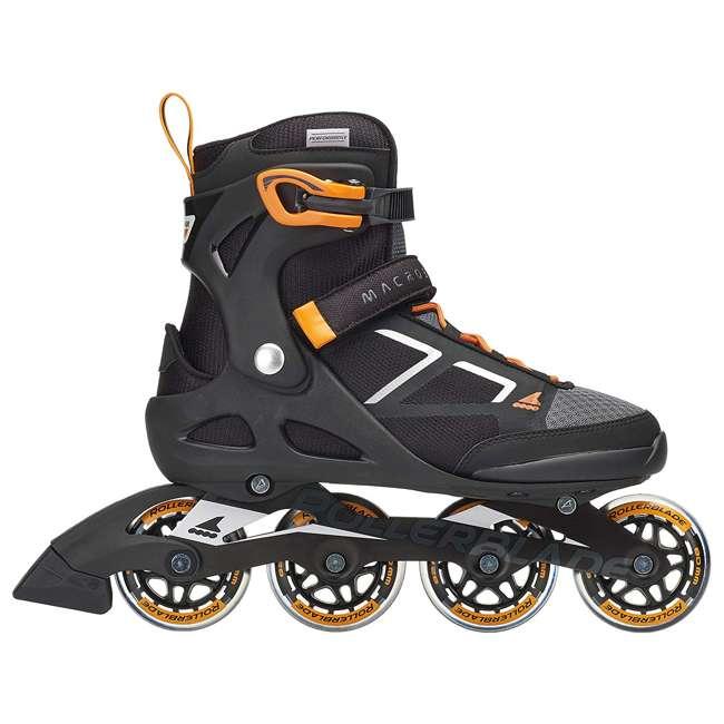 07847100956-8 Rollerblade Macroblade 80 Mens Adult Performance Inline Skates, Orange and Black 5