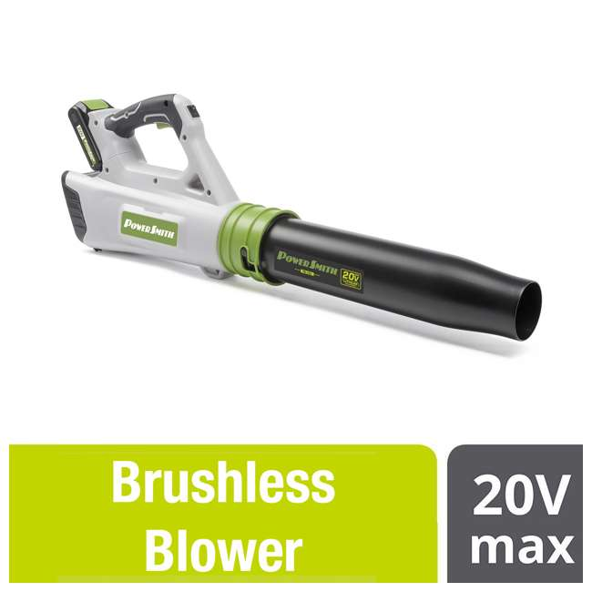 PBL120J + PLB12040 PowerSmith 20V Max Electric Powered Cordless Jet Leaf Blower with Extra Battery 3