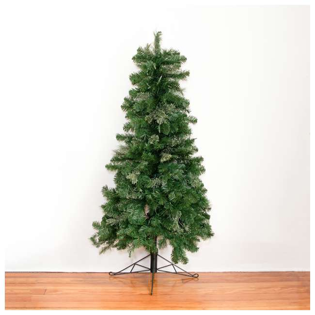 TG5000GHDL00-U-B Home Heritage 5' Flat Half Christmas Tree for Wall w/ White LED Lights (Used) 5