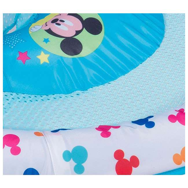 25440-SW-U-A SwimWays Inflatable Infant Baby Pool Float w/ Canopy, Mickey Mouse (Open Box) 3