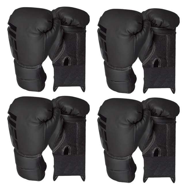 4 x 14434P-010716-BXGGLV16 Century Martial Arts UFC Men's 16 Oz Boxing Gloves, Black (4 Pack)