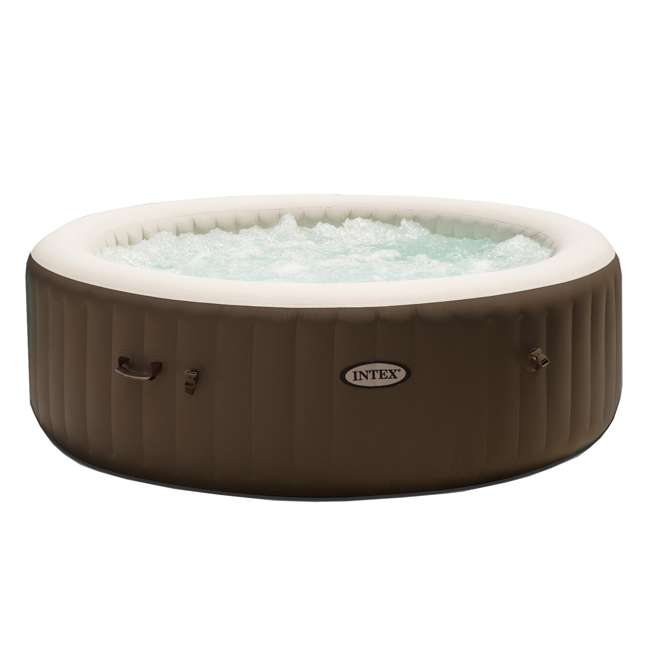 28407VM Intex PureSpa 6-Person Portable Inflatable Bubble Jet Hot Tub