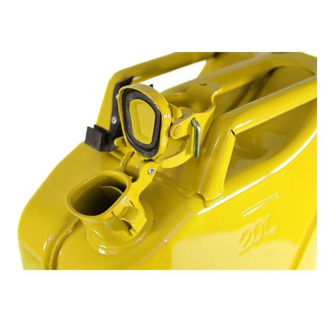3011-WAV-OB Wavian 3011 5.3 Gallon 20L Authentic Fuel Can and Spout, Yellow(Open Box) 1