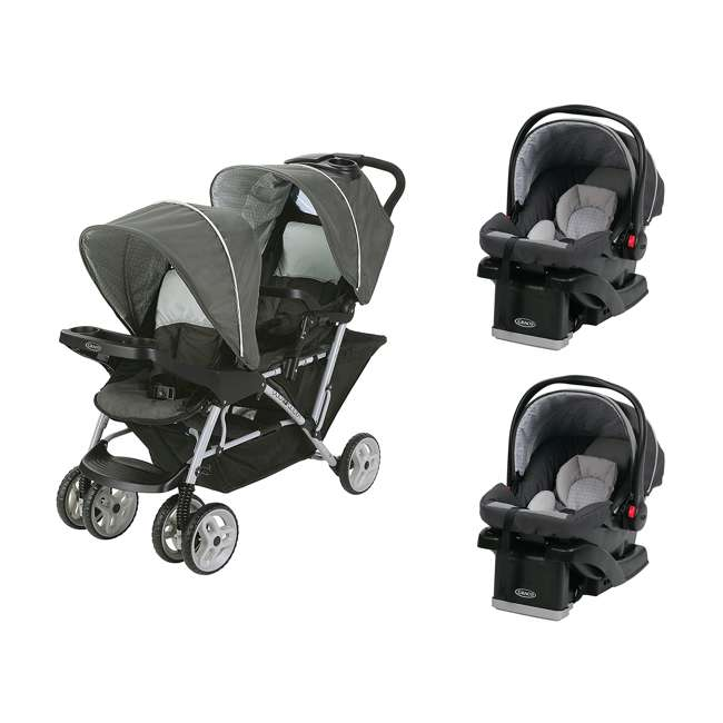 Graco DuoGlider Click Connect Double Stroller & Car Seats ...