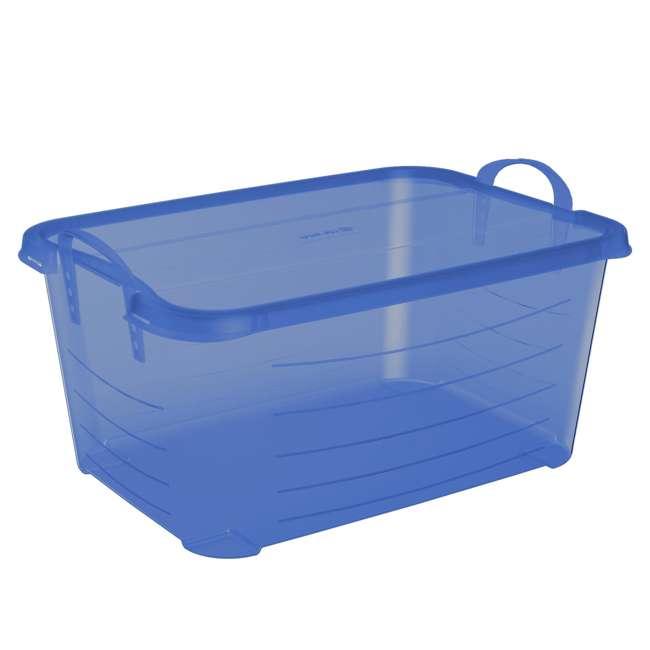 4 x CS-50TB Life Story Blue Closet Organization & Storage Box Container, 55 Quart (4 Pack) 4