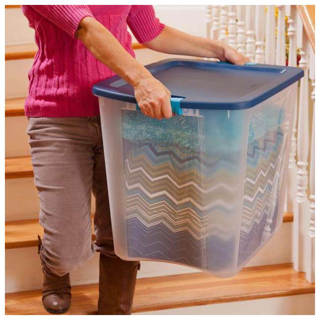 4 x 14489604-U-A 4 Pack Sterilite 26 Gallon Latch & Carry Storage Tote Box Containers (Open Box) 7