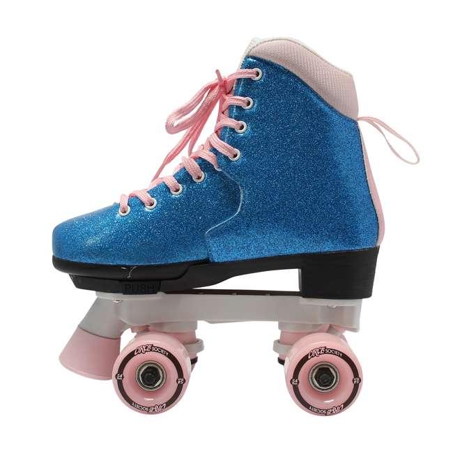 168218 Circle Society Bling Bubble Gum Kids Skates, Sizes 3 to 7 3