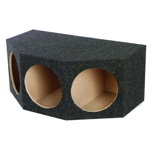 BASS12-3HOLE Q Power BASS12 3 Hole 12-Inch Sealed Subwoofer Enclosure Box | 35 x 20.25 x 15 (2 Pack) 1