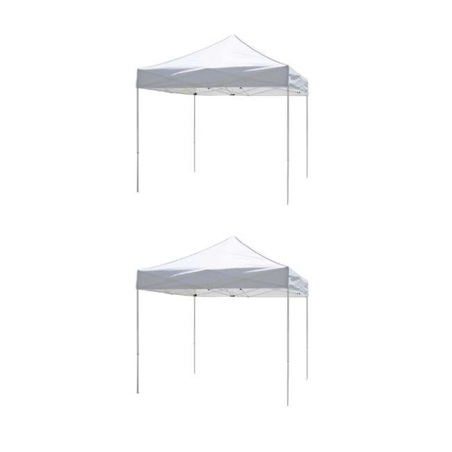 ZS10VNTWH Z-Shade 10 x 10 Foot Lawn Garden & Event Outdoor Portable Canopy, White (2 Pack)