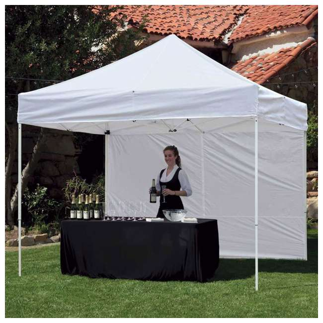 ZS10PKSSWTWH-U-A Z-Shade 10' White Instant Canopy Tent Sidewall Accessory Only (Open Box)(2 Pack) 1