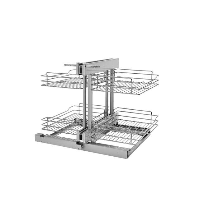 5PSP-15-CR Rev-A-Shelf 5PSP-15-CR 15 Inch Chrome Blind Corner Kitchen Cabinet Organizer