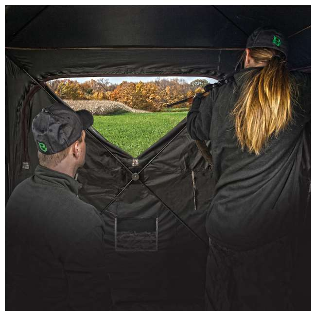 BARR-GR351BB Barronett Grounder 350 Bloodtrail Blades Lightweight Pop Up Ground Hunting Blind 6