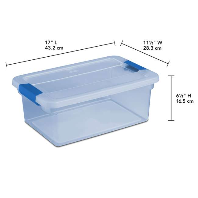 24 x 17534512 Sterilite ClearView Latch 15 Quart Plastic Storage Container Bin, Blue (24 Pack) 1