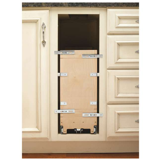 447-BCBBSC-8C Rev-A-Shelf 447-BCBBSC-8C 8 Inch Kitchen Pull Out Tray Divider Cabinet Organizer 4