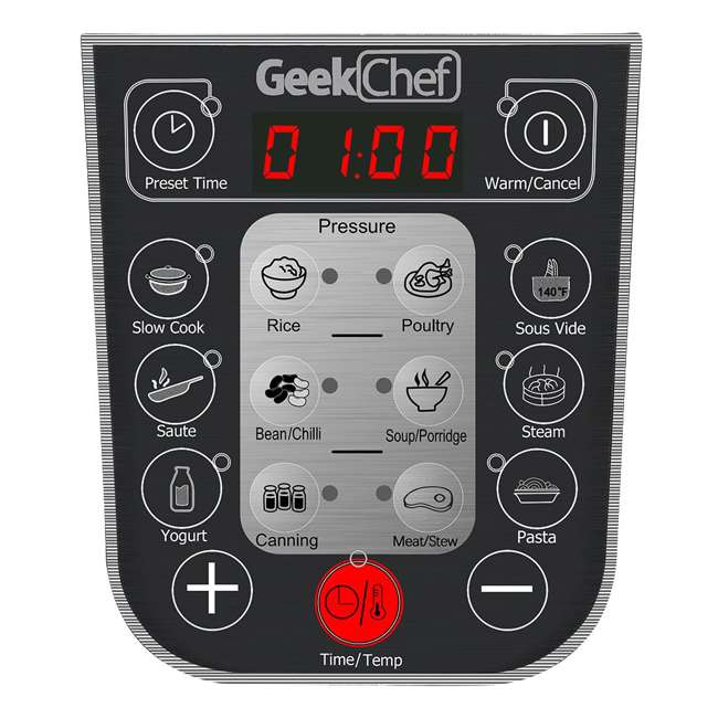 YBW60-GlassLid Geek Chef YBW60 11 in 1 Multi Function 6 Quart Slow and Pressure Cooker (2 Pack) 7