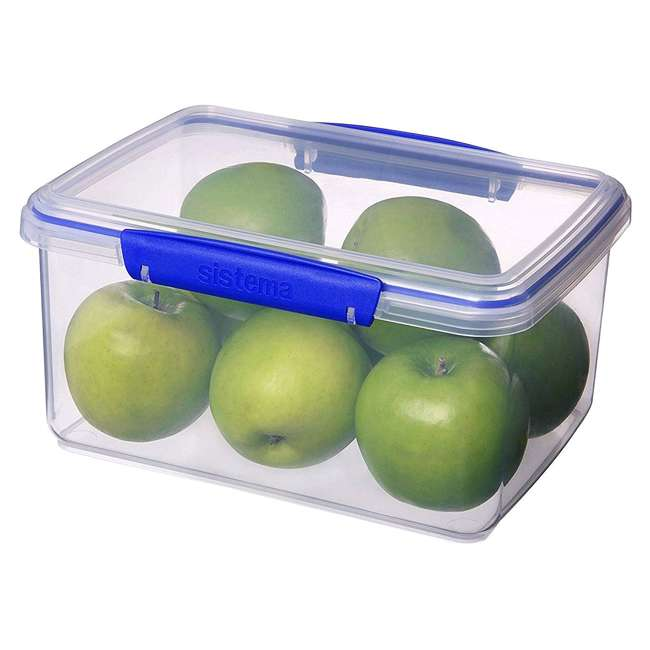 SISTEMA-1830ZS Sistema 1830 Klip It Rectangle Food Storage Container, 101 Ounce 1