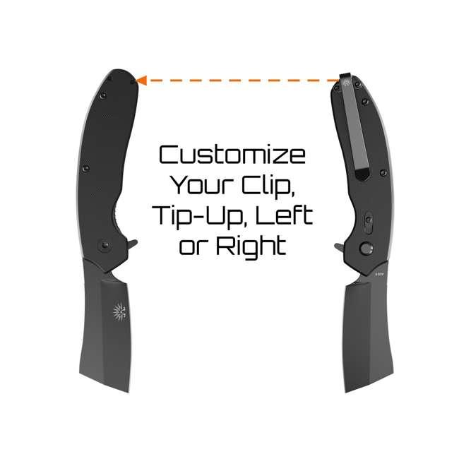 X001Z3DTPZ - 7777891271 OG-950XB Off-Grid Blackout Compact 7777891271 Folding Tini Coated Cleaver Knife, Black 5